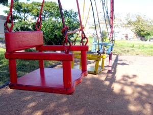 wooden swing chairs