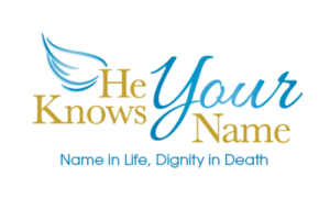 He Knows Your Name Logo with Mission Statement