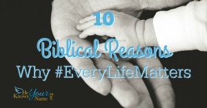 10 Biblical Reasons why #EveryLifeMatters by Linda Znachko